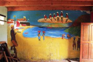 Wandmalerei im Bildungszentrum